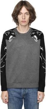 Panther Print Neoprene Sweatshirt