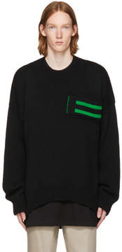 Raf Simons Black Striped Pocket Uni Sweater