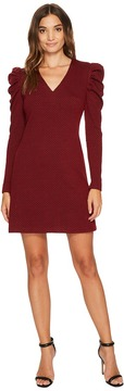 Donna Morgan V-Neck Sheath Dress with Puff Sleeve Women's Dress