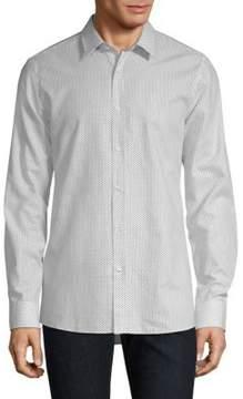 HUGO Triangle-Print Dress Shirt