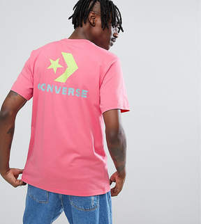 Converse T-Shirt With Back Print In Pink Exclusive To ASOS