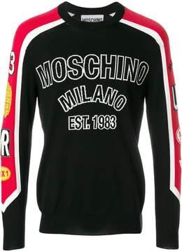 Moschino panelled sweatshirt