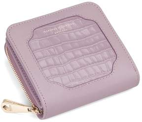 Aspinal of London | Marylebone Mini Purse In Deep Shine Lilac Small Croc Smooth Lilac | Deep shine lilac small croc
