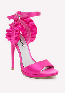 Bebe Elle Satin Ruffle Sandals