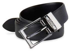HUGO Python Print Leather Belt