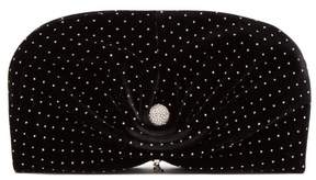 Jimmy Choo Vivien Embellished Velvet Clutch Bag - Womens - Black Silver