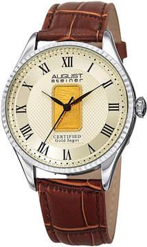 August Steiner Mens Brown Strap Watch-As-8217ssbr