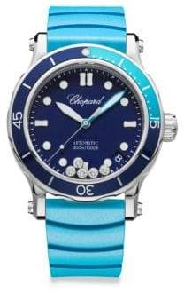 Chopard Happy Ocean Diamond & Fabric Strap Watch