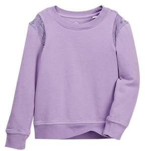 AG Jeans Overdyed Lace Sweatshirt (Toddler Girls)