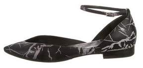 Balenciaga Marble Ankle-Strap Flats