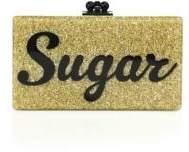 Edie Parker Flavia Sugar Acrylic Clutch