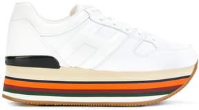 Hogan branded platform sneakers