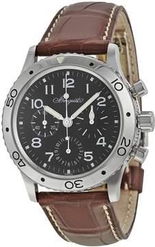 Breguet Type XX Aeronavale Automatic Chronograph Black Dial Brown Leather Men's Watch 3800ST929W6
