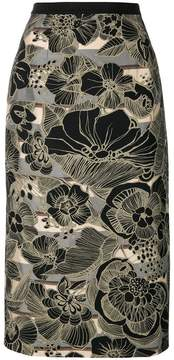 Antonio Marras printed pencil skirt