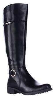 Alfani A35 Jadah Tall Wide Calf Riding Boots, Black.