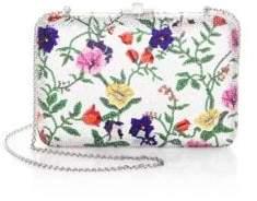 Judith Leiber Couture Slim Floral-Print Slide Bag
