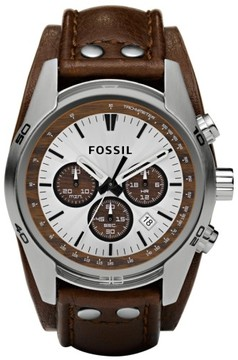 Fossil Men's Chronograph Cuff Watch, 44Mm