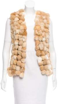 Alberto Makali Open Front Fur Vest