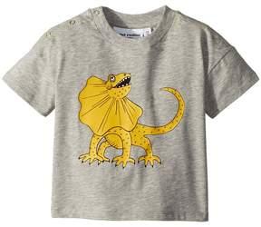 Mini Rodini Draco Solid Print Short Sleeve T-Shirt Boy's T Shirt