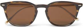 Oliver Peoples Heaton D-Frame Two-Tone Tortoiseshell Acetate Sunglasses