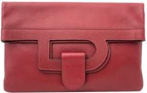 Delvaux Vintage Burgundy Leather Clutch Bag