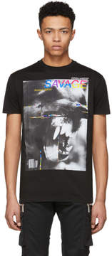 DSQUARED2 Black Savage Long Cool T-Shirt