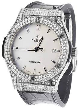 Hublot Classic Fusion 521.NX.2611.LR Titanium Opaline Diamond Dial 45mm Watch