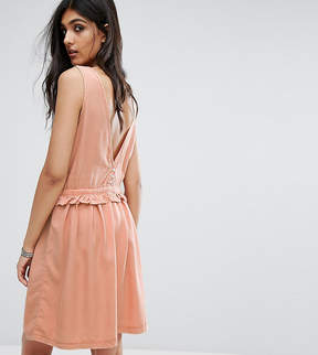 Noisy May Tall Drawstring Dress With Button Back Detail