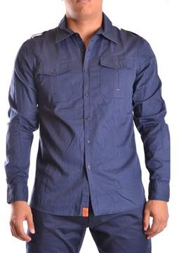 Dekker Men's Blue Cotton Shirt.