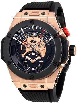 Hublot Big Bang Bi Retrograde King Gold Black Dial Chronograph Men's Watch