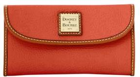 Dooney & Bourke Pebble Grain Continental Clutch Wallet - BURNT ORANGE - STYLE