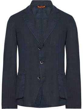 Barena Blue Slim-Fit Unstructured Linen Blazer