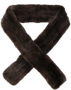 Yves Salomon thin classic scarf