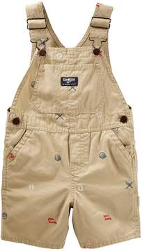 Osh Kosh Oshkosh Bgosh Toddler Boy Embroidered Baseball Themed Shortalls