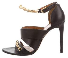 Calvin Klein Collection Leather Chain-Link Sandals