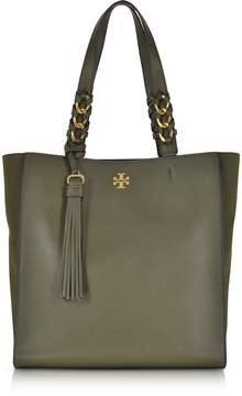 Tory Burch Brooke Leccio Leather Tote Bag w/Suede Trims - ONE COLOR - STYLE