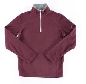 Fila Red Gray Mens Size Small S Pullover Half-Zip Fleece Jacket