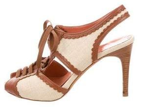 Philosophy di Alberta Ferretti Canvas Lace-Up Sandals