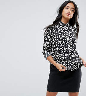 Brave Soul Petite Twinkle Shirt in Star Print