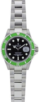 Rolex Submariner 16610 Stainless Steel Green Bezel & Black Dial 40mm Mens Watch