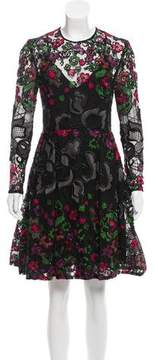 Elie Saab Embroidered Midi Dress