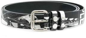 Prada printed belt