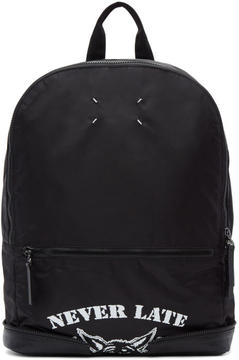 Maison Margiela Black Nylon Never Late Backpack