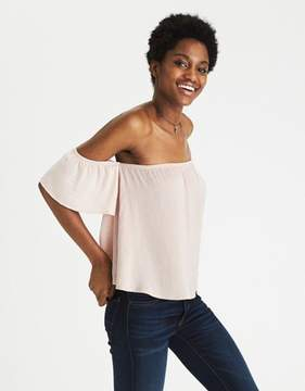 American Eagle Outfitters AE Silky Off-the-Shoulder Top