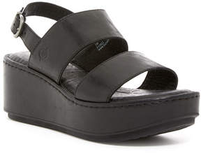 Børn Silay Leather Wedge Sandal
