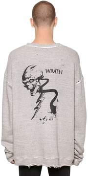 RtA Oversize Wrath Raw Cut Cotton Sweatshirt