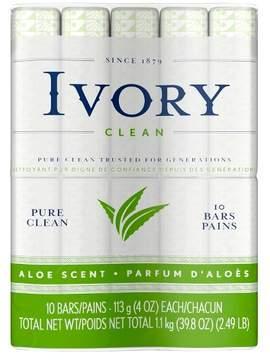 Ivory Aloe Bath Soap - 10 bars