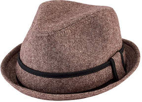 San Diego Hat Company Men's Tweed Fedora with Contrast Trim SDH9446