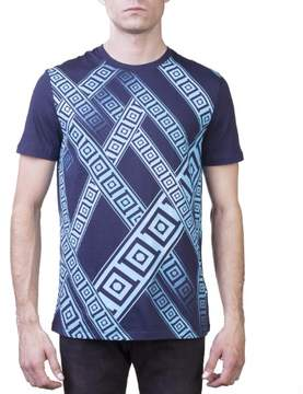 Versace Men's Crew Neck Regular Fit T-Shirt Navy Blue