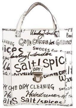 Comme des Garçons Leather Graffiti Bag
